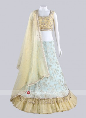 Double Layer Embroidered Lehenga Set