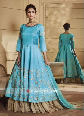 Double Layer Heavy Anarkali with Shaded Dupatta