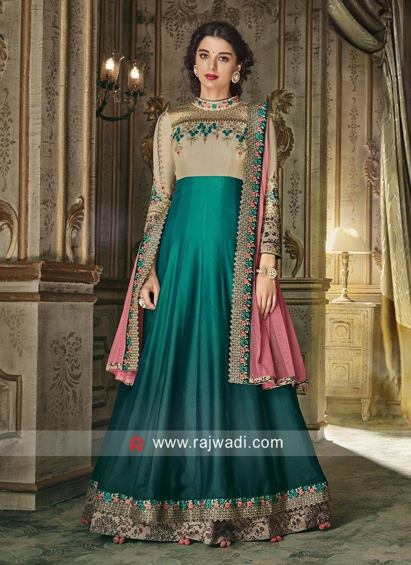 Giselli Monteiro Double Layer Eid Anarkali Suit