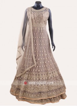 Double Layer Heavy Embroidered Salwar Suit