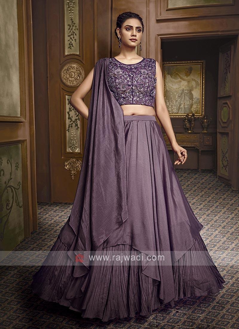 Double Layer Purple Lehenga Choli