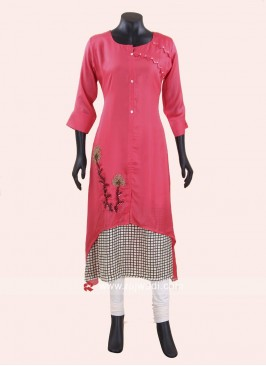 Double Layered Crepe Kurti