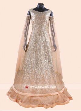 Double Layered Designer Full Gown