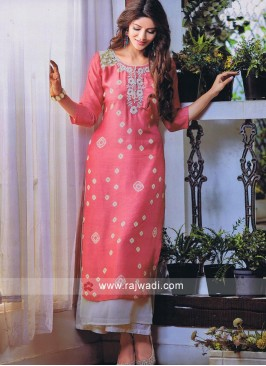 Double Layered Designer Long Kurti