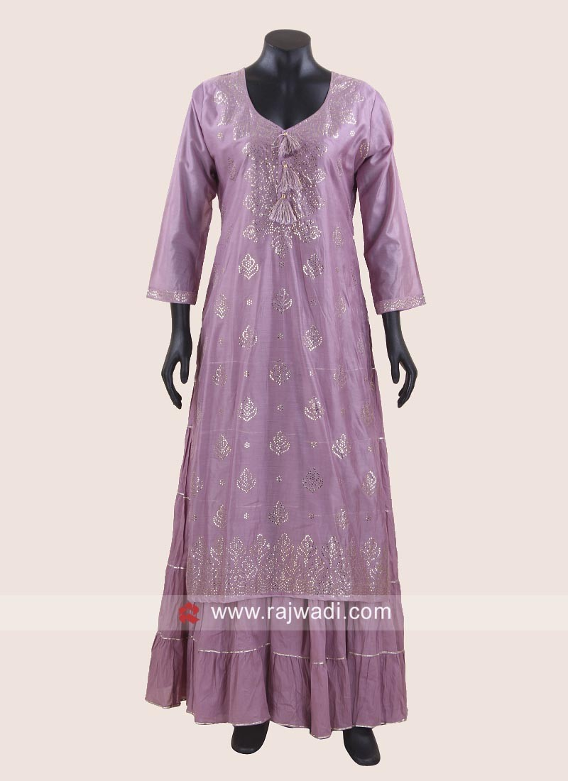 Double Layered Embroidered Kurti