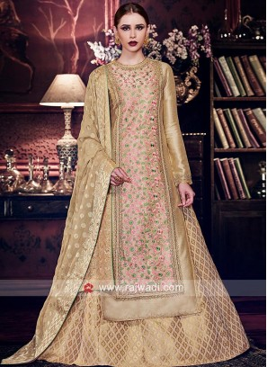 Double Layered Embroidered Salwar Kameez