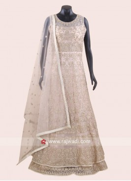 Double Layered Floor Length Heavy Anarkali
