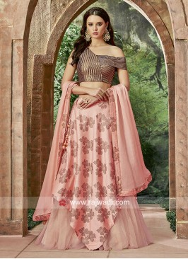 Double Layered Flower Print Lehenga Set