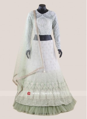 Double Layered Heavy Wedding Lehenga Set