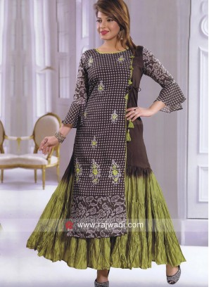 Double Layered Kurti with Latkan