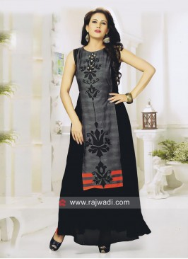 Double Layered Long Kurti with Buttons