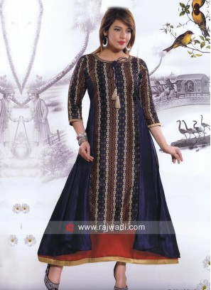 Double Layered Multicolor Kurti