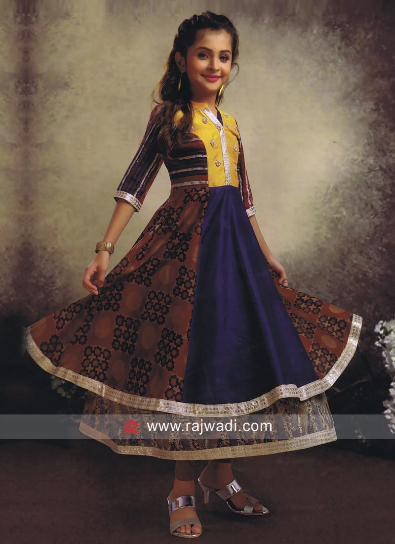 Double Layered Multicolor Salwar Kameez