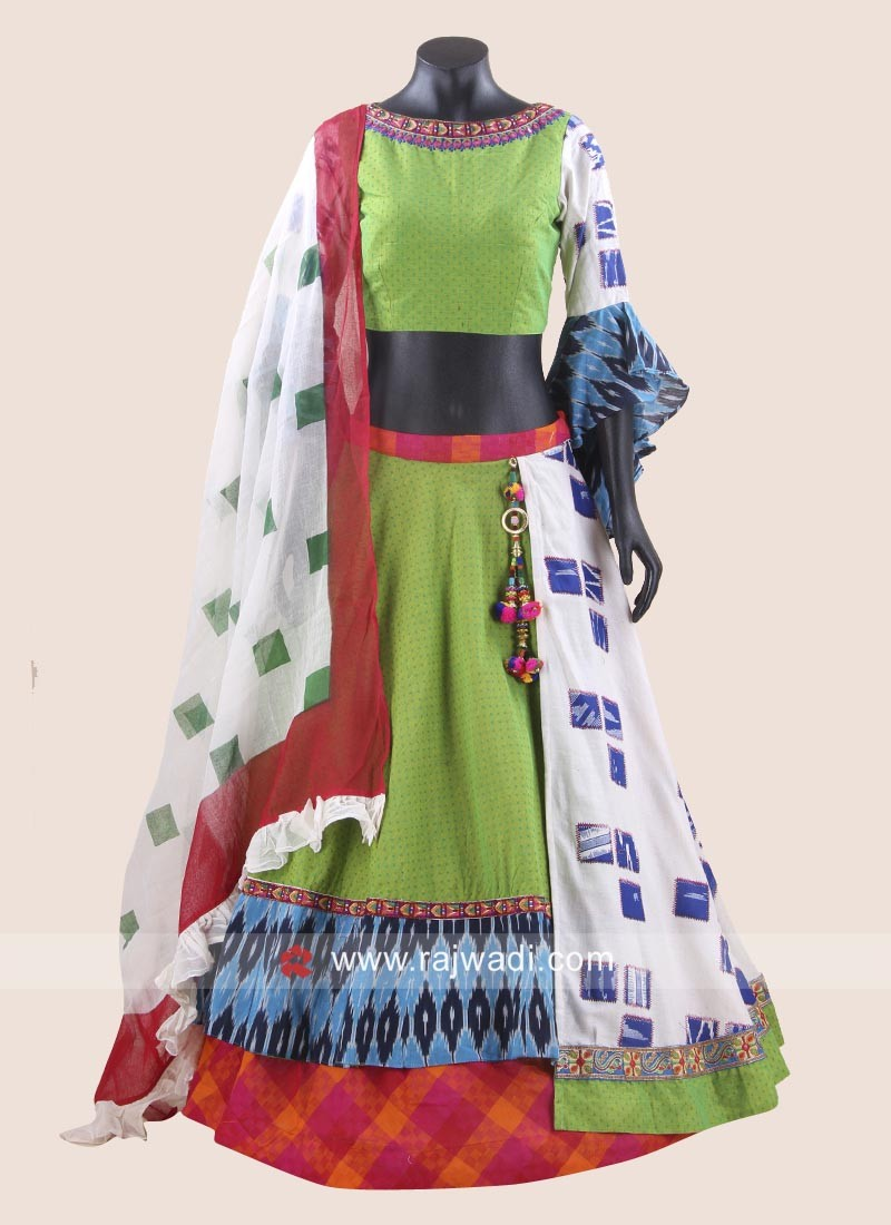Double Layered Navratri Chaniya Choli