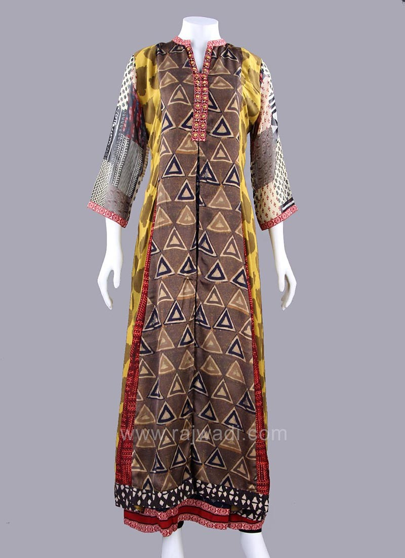 Double Layered Printed Long Kurti