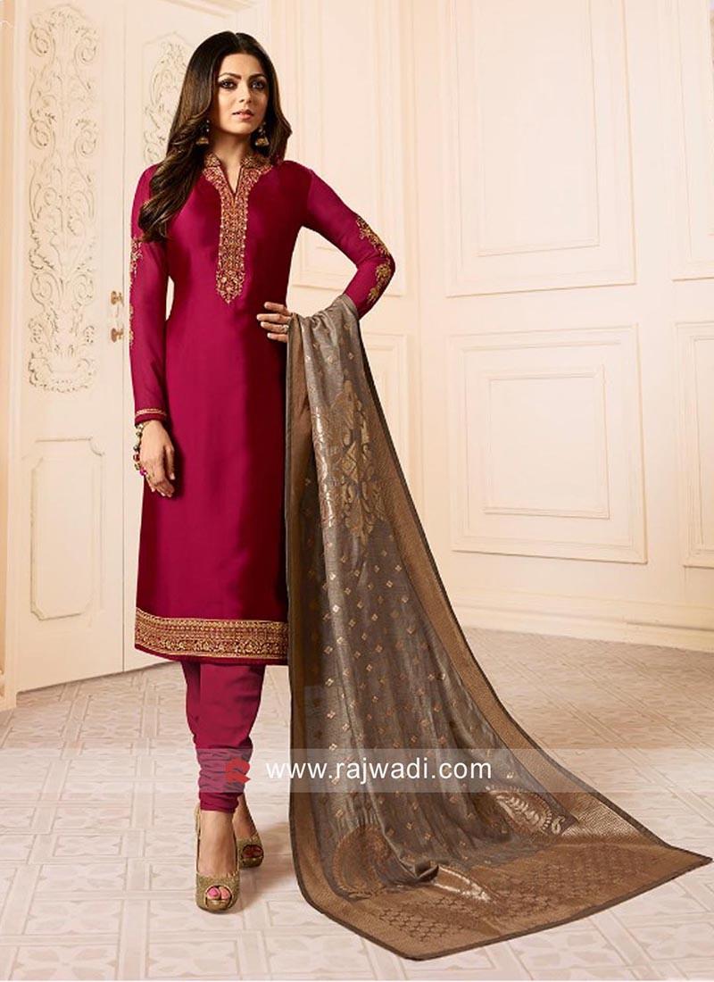 Drashti Dhami Crepe Silk Salwar Suit