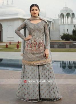 Drashti Dhami Embroidered Eid Palazzo Suit