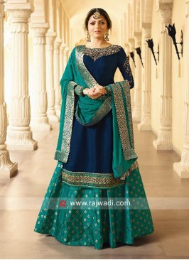 Drashti Dhami Embroidered Lehenga Suit