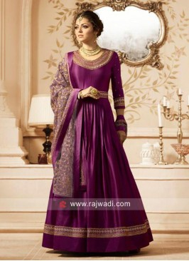 Drashti Dhami Embroidered Salwar Suit with Belt