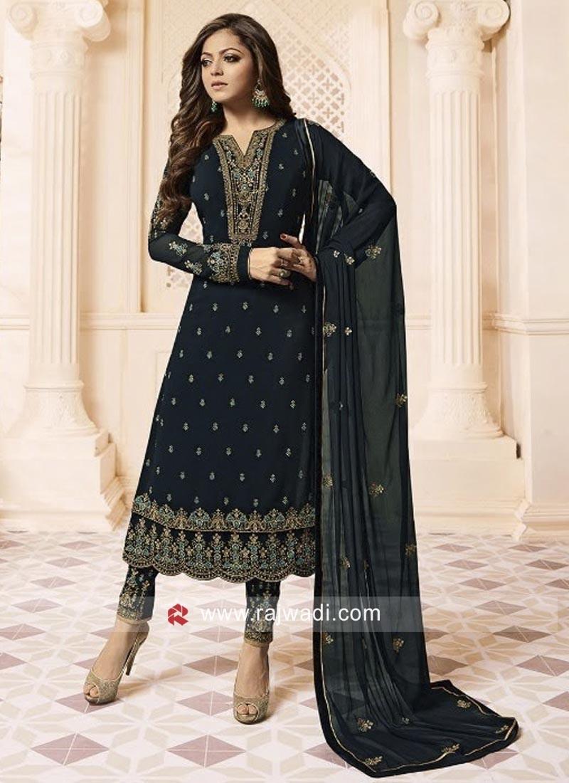 Drashti Dhami Heavy Work Salwar Suit