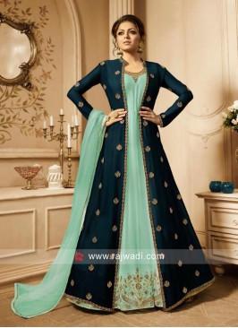 Drashti Dhami Jacket Style Salwar Kameez