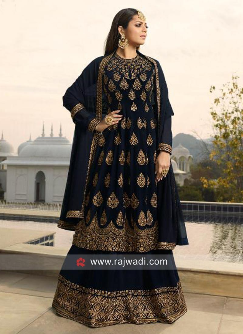 Drashti Dhami Lehenga Style Salwar Suit
