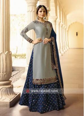 Drashti Dhami Lehenga Style Suit