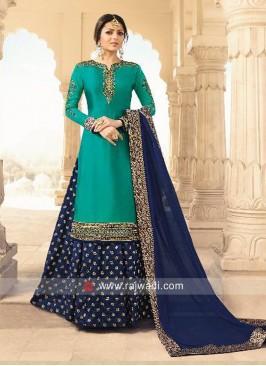 Drashti Dhami Stone Work Lehenga Suit