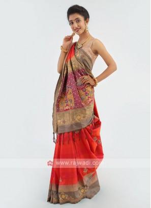 Dual Shade Silk Saree