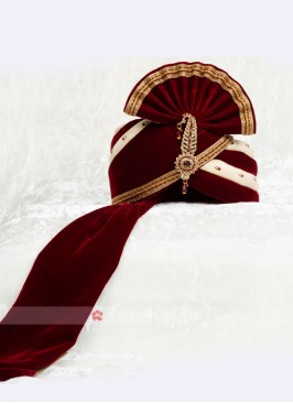 Dulha Velvet Turban For Marriage