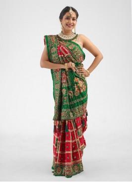 Dulhan Gajji Silk Gharchola Saree For Wedding