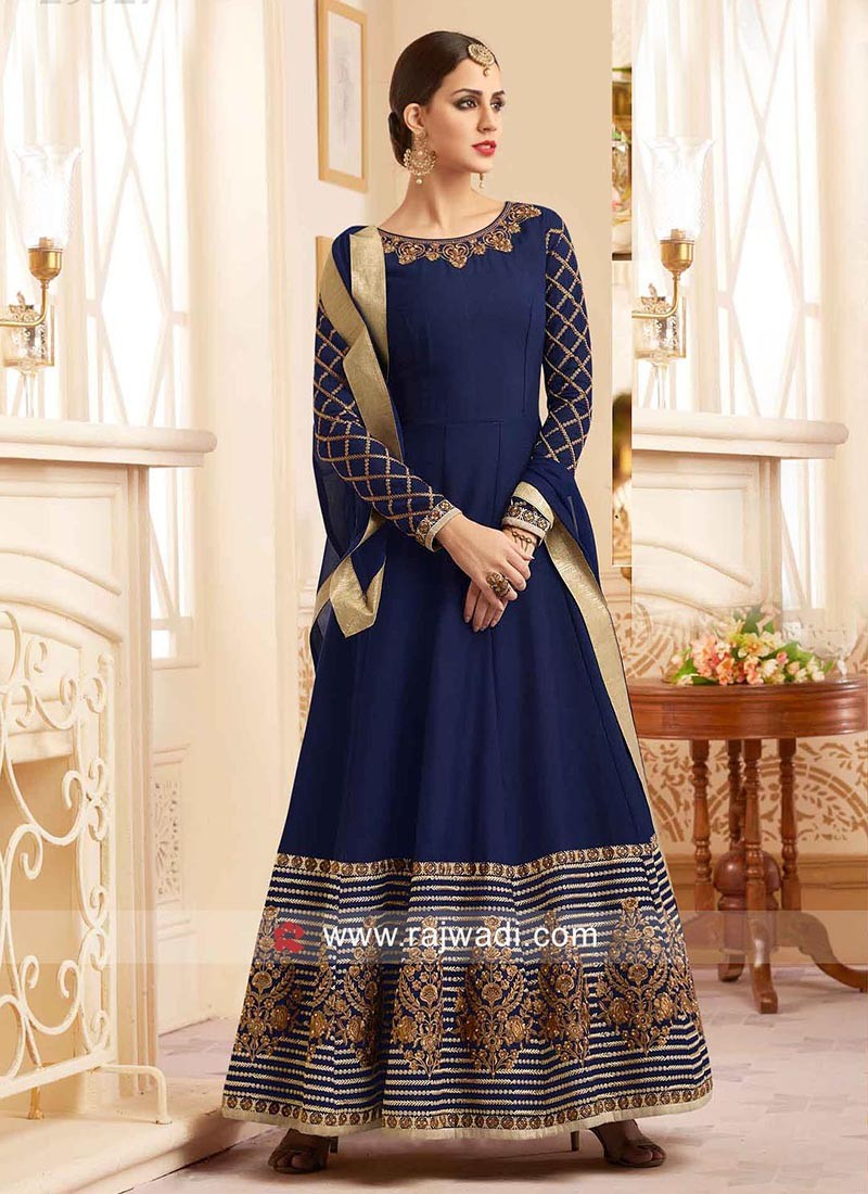 Eid Semi Stitched A Line Salwar Suit