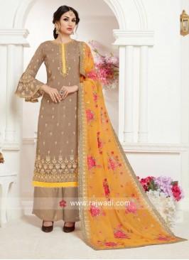 Eid Special Designer Palazzo Salwar Kameez
