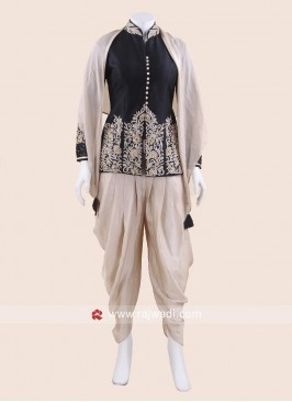 Stylish Dhoti Suit with Scarf