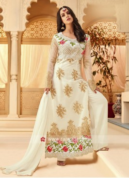 Eid Special Embroidered Palazzo Suit