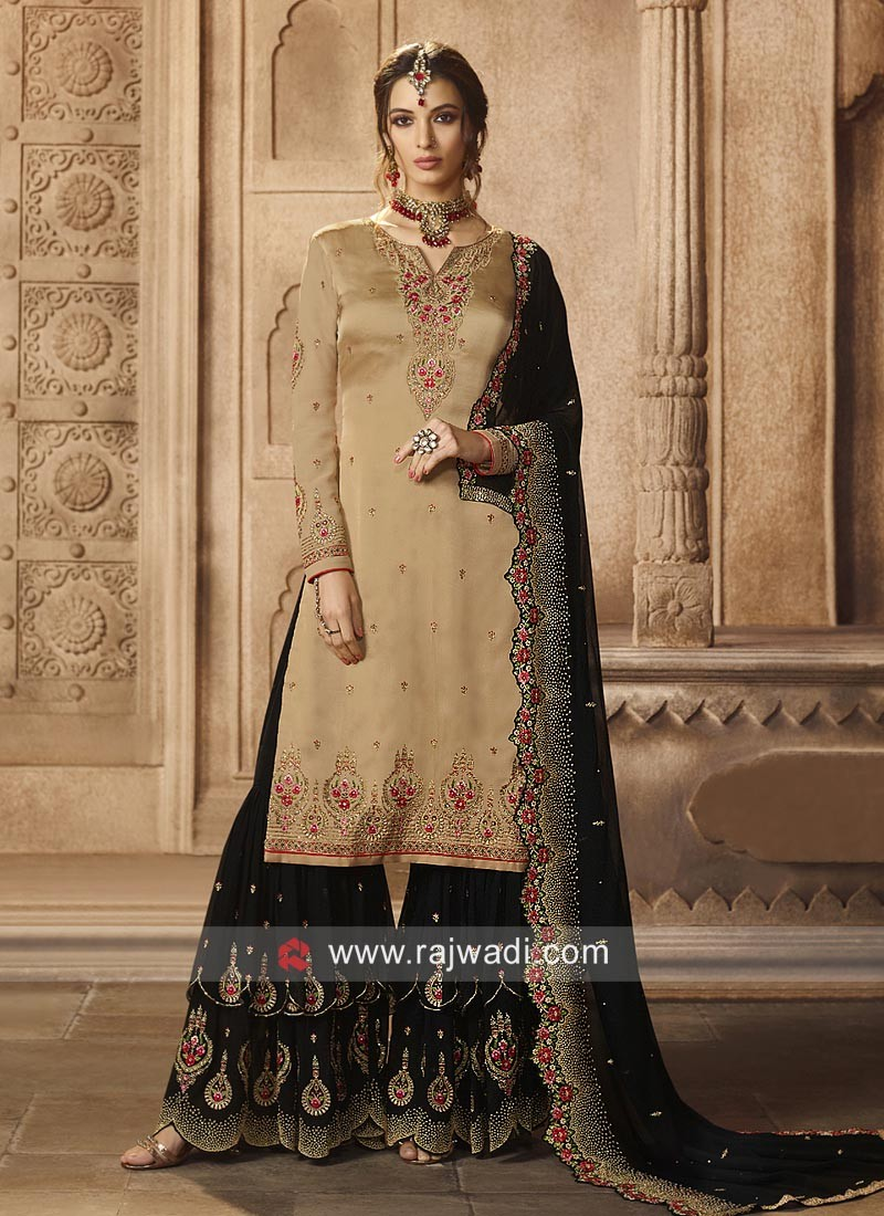 Cgarming Gharara Suit with Dupatta