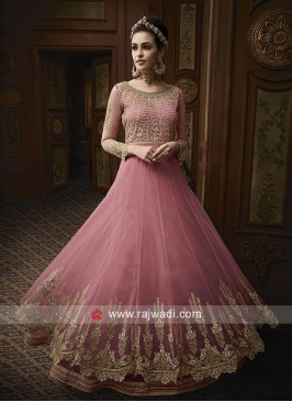 Pink Heavy Embroidery Salwar Kameez