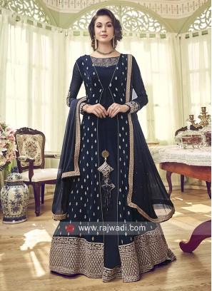 Jacket Style Floor Length Salwar Suit