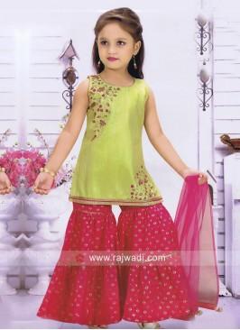 Eid Special Kids Palazzo Salwar Kameez