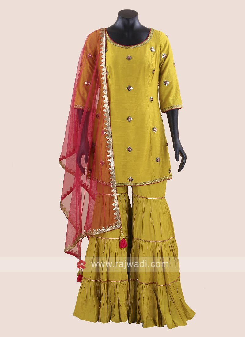 Eid Special Rayon Silk Gharara Suit