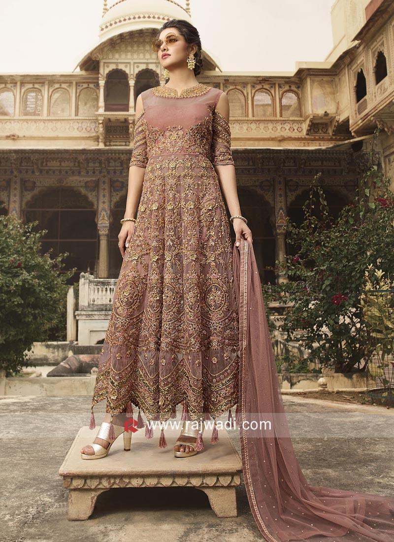 Eid Special Salwar Suit in Dark Brown