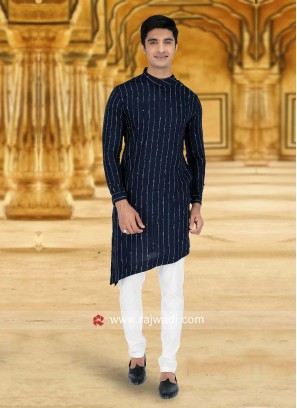 Elegant Blue Pathani Suit