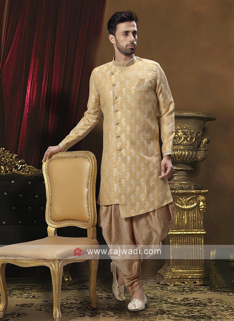Elegant Golden Patiala Suit