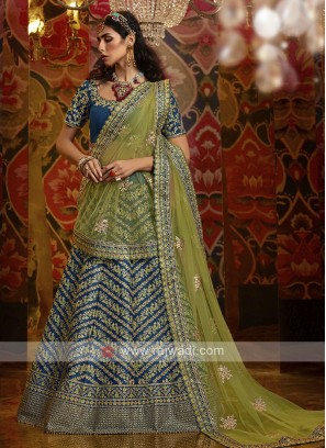 ELegant Lehenga Choli In Blue