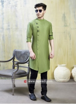 Elegant Green Pathani Suit