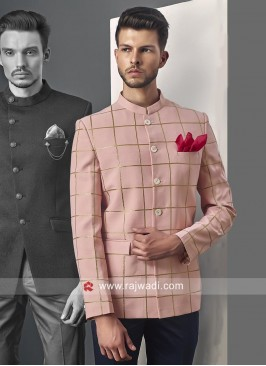 Elegant Light Pink Jodhpuri Suit