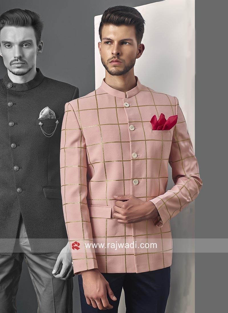 Elegant Light Pink Jodhpuri Suit