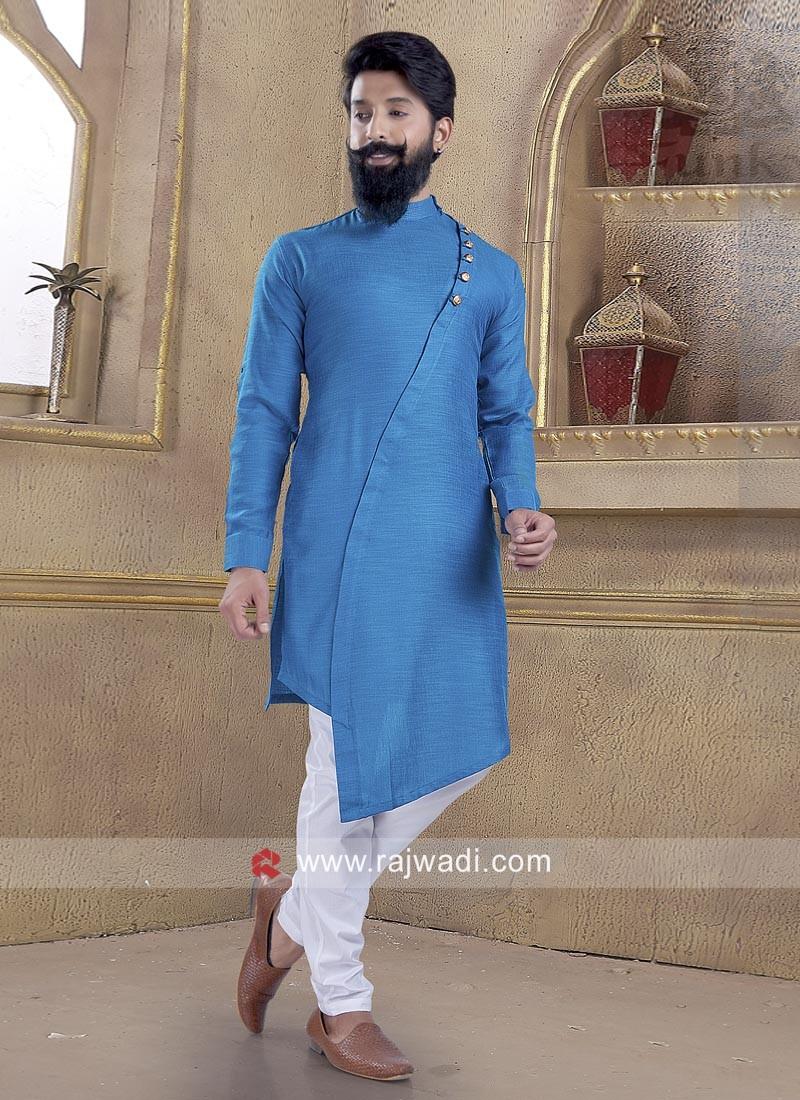 Elegant Blue Pathani Suit