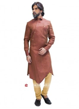 Elegant Peru Color Pathani Suit