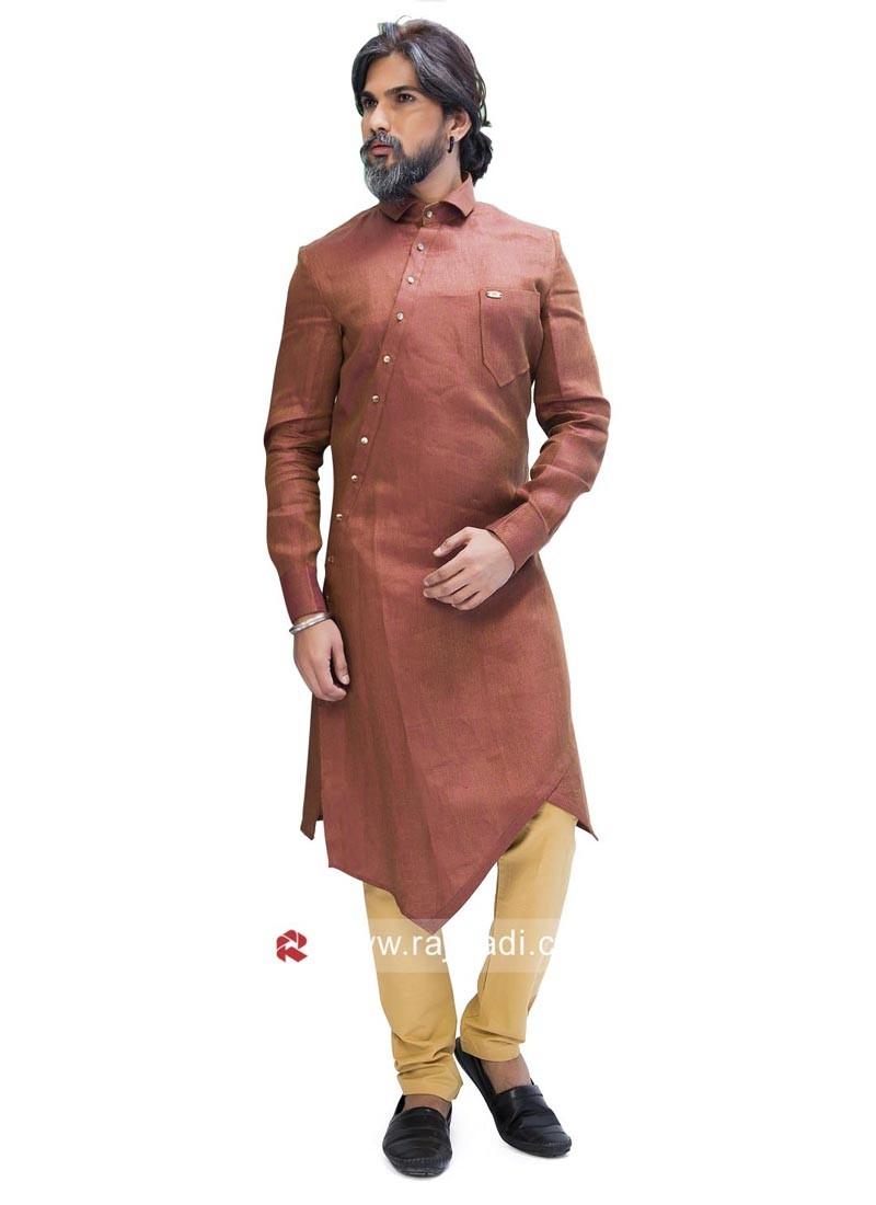 Elegant Peru Color Pathani Suit
